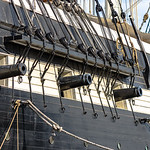 Close up of cannons on the USS Constellation